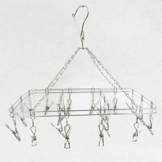 【銀之不銹鋼】方形曬衣架-20夾