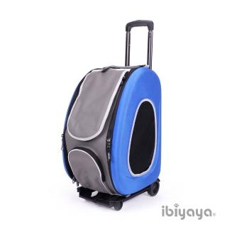 【IBIYAYA依比呀呀】五彩繽紛寵物拉桿後背包-寶藍海洋(FC1008)