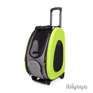 【IBIYAYA依比呀呀】五彩繽紛寵物拉桿後背包-綠意盎然(FC1008)
