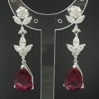 【Celosa珠寶-】璀璨紅寶耳環