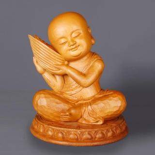 【荒木雕塑藝品】法音童子(童子系列)  MU LIFE 荒木雕塑藝品