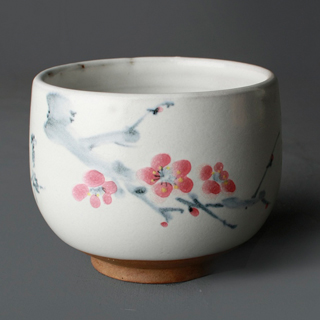【MU LIFE 生活工藝品】梅花古典茶碗(純手工製作)  MU LIFE 荒木雕塑藝品