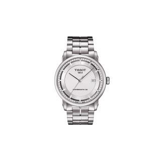 【TISSOT】T-Classic Luxury 機械腕錶-銀(T0864071103100)
