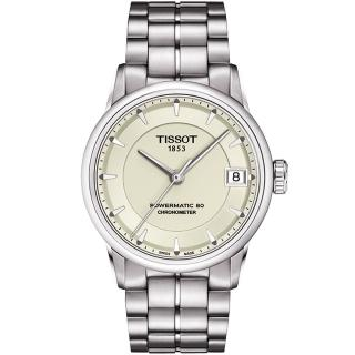 【TISSOT】T-Classic Luxury 天文台認證機械腕錶-銀(T0862081126100)