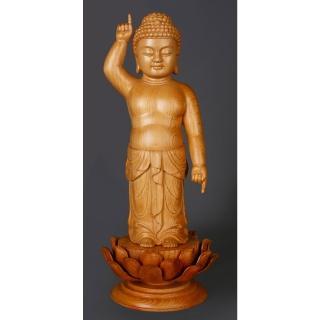【MU LIFE 雕刻藝品】誕生如來(童子系列 )   MU LIFE 荒木雕塑藝品