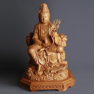 【荒木雕塑藝品】半跏白衣觀音(1.3尺)  MU LIFE 荒木雕塑藝品