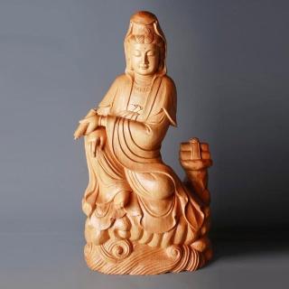 【荒木雕塑藝品】慈悲觀音(2.2尺)   MU LIFE 荒木雕塑藝品
