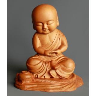 【MU LIFE 雕刻藝品】修行童子(高5.6寸 童子系列 )   MU LIFE 荒木雕塑藝品