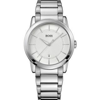 【Hugo Boss】紳士品味腕錶/白面(HB1512621)
