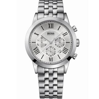 【Hugo Boss】型男風采時尚腕錶/銀面/鋼帶(HB1512571)