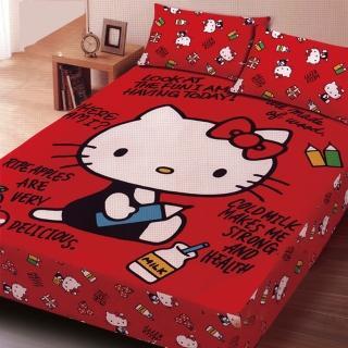 【HELLO KITTY】雙人三件式刷毛床包組(我的筆記本)