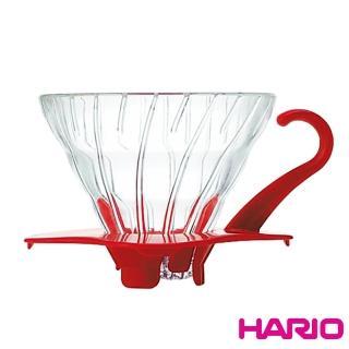 【HARIO】V60紅色01玻璃濾杯(VDG-01R)