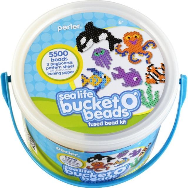 【Perler 拼拼豆豆】海洋生物 5500 顆拼豆組合桶