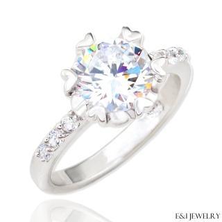 【E&I】-魅惑女神-八心八箭完美車工美鑽戒指