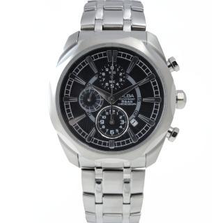 【ALBA】奔馳競速三眼計時男腕錶/黑面/44mm(YM92-X148D)