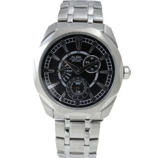 【ALBA】個性悍將時尚男腕錶/黑面/44mm(VD87-X005D)