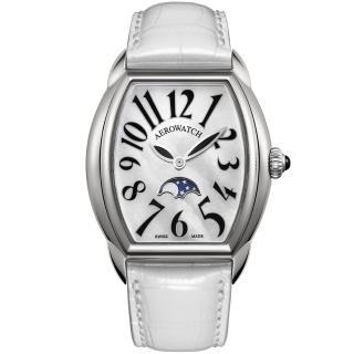 【AEROWATCH】Horloge lady 月相珍珠貝腕錶(A43958AA03)
