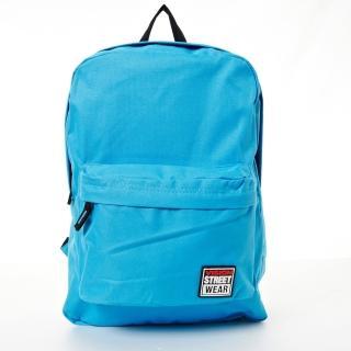 【VISION STREET WEAR】潮牌時尚多色運動休閒雙肩後背包(水藍  VB2032L)