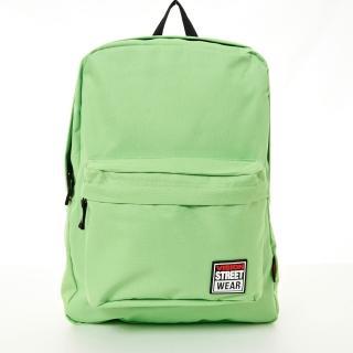 【VISION STREET WEAR】潮牌時尚多色運動休閒雙肩後背包(蘋果綠  VB2032LG)