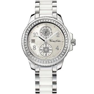 【Thomas Sabo】It Girl 太陽女神陶瓷晶鑽腕錶-白(WA0053)
