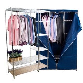 《BuyJM》超值鐵管大衣櫥附布套-寬120公分