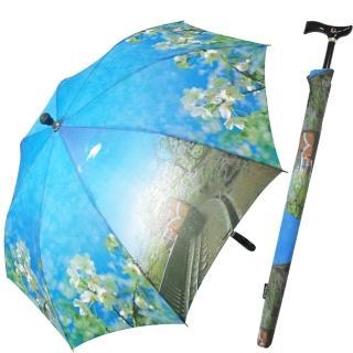 阿里山櫻花/小火車風情可調式自動傘/登山傘