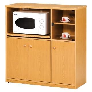 【顛覆設計】潮濕剋星-防水塑鋼3.3尺碗碟櫃/收納櫃(四色可選)