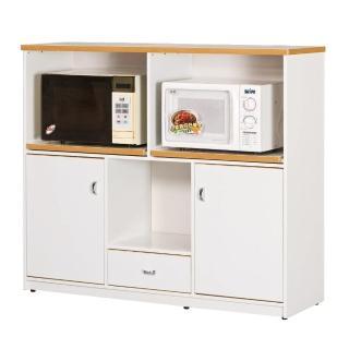 【顛覆設計】潮濕剋星-防水塑鋼4.2尺碗碟櫃/收納櫃(三色可選)