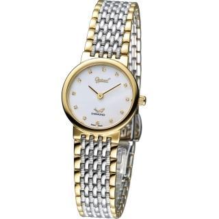 【Ogival 愛其華】薄型時刻仕女腕錶(385022L)
