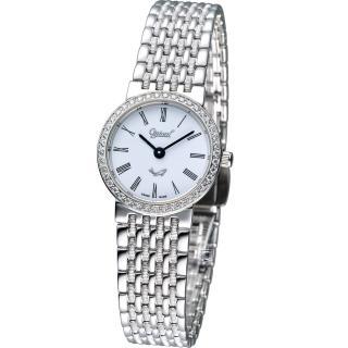 【Ogival 愛其華】薄型璀璨仕女腕錶(385021DL)