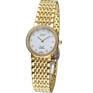 【Ogival 愛其華】薄型奢華仕女腕錶(385022DL)