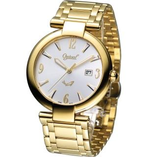 【Ogival 愛其華】時尚演繹薄型腕錶(3862MK)