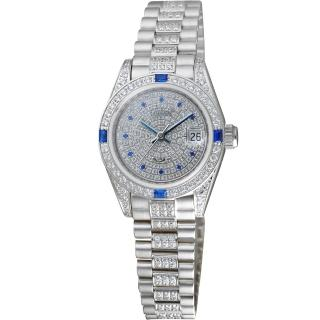 【Ogival】愛其華型晶鑽機械女錶(30329LW)