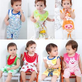 【baby童衣】獨家卡通圍兜背心連身衣 31231(共七色)