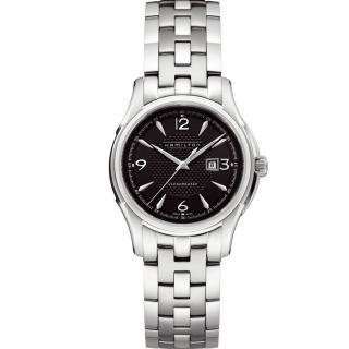 【HAMILTON】Jazzmaster典雅爵士機械 黑面 女錶(H32325135)