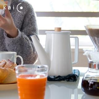 fujidinos《kaico》 簡約風 琺瑯咖啡手沖壺
