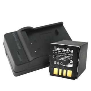 【電池王】JVC BN-VF733U 高容量鋰電池+充電器組