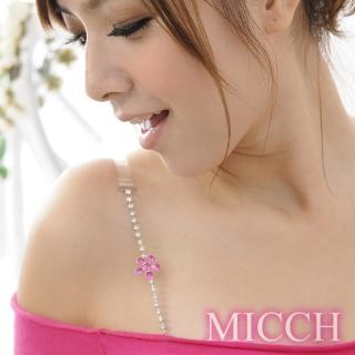 【MICCH】臺灣製 櫻桃紅幸運花閃耀捷克鑽石肩帶