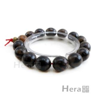 Hera特級菩提黑花摩尼珠手鍊/11mm