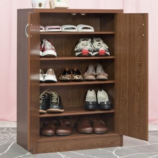 【奧古德】雙門鞋櫃(胡桃木色)