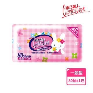 【康乃馨】寶寶潔膚濕巾補充包80片(兔子;80片/包)