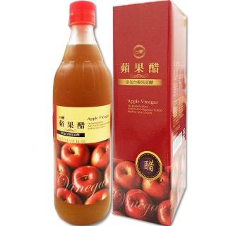 【台糖優食】台糖蘋果醋1瓶(添加果寡醣;600ml/瓶)