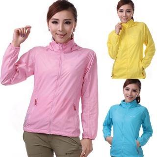 【PUSH!機能服飾】抗紫外線50+UPF防浸水80g透氣抗褶速乾外套風衣(多色)
