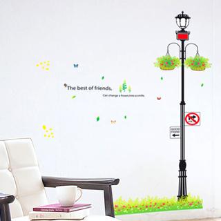 【Pond's】無痕壁貼--歐風街燈/XY8057(超大尺寸50x70cm)