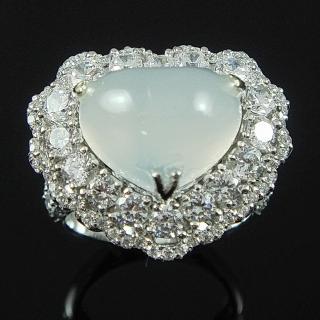 【蕾帝兒珠寶】愛的呢喃白玉隨戒指