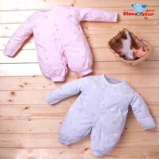 【聖哥Newstar  明日之星】MIT 優雅純棉嬰兒薄款長袍睡袍/兩用兔衣/連身衣(長袖長褲 全開 MIT 推薦 人氣)