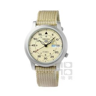 【SEIKO】精工5號野戰機械帆布錶-卡其(SNK803K2)