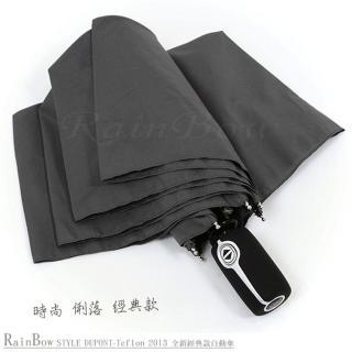 【RainBow】Teflon!RB精品自動傘-防風晴雨傘(灰)