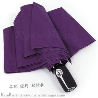 【RainBow】Teflon!RB精品自動傘-防風晴雨傘(紫)