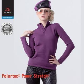 【JORDON 橋登】半開襟上衣 POLARTEC Power Stretch PRO(782 紫色)